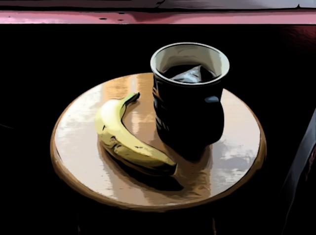 Cupán tae nó banana.